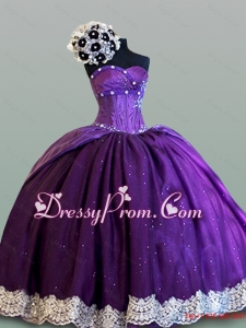 Feminine Ball Gown Sweetheart Quinceanera Dresses with Lace for 2015