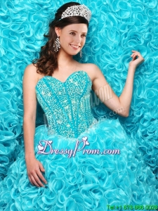 Gorgeous Aqua Blue Quinceanera Dresses with Beading and Ruffles