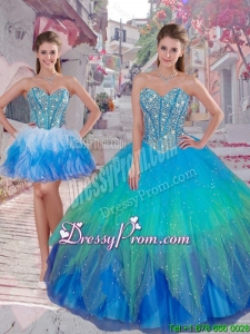 Cheap Ball Gown Detachable Quinceanera Dresses in Multi Color