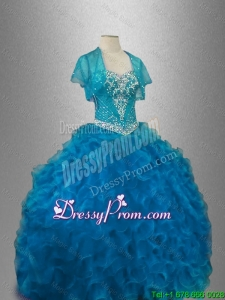 Cheap Organza Sweet 16 Dresses with Beading and Ruffles