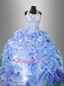Pretty Lavender Quinceanera Gowns with Hand Made Flowers
