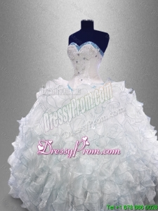 2015 Dynamic Sweetheart Quinceanera Dresses with Beading and Ruffles