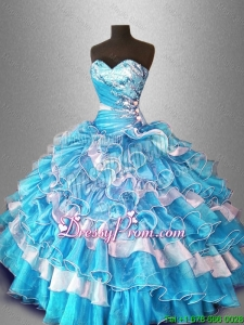 Ball Gown Popular Sweet 16 Dresses with Beading and Ruffles
