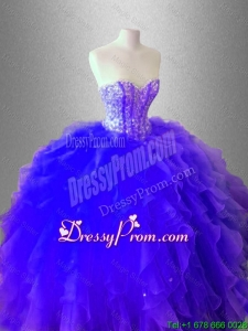 Luxurious Ball Gown Ruffles and Beaed Sweet 16 Dresses