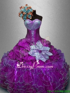 New Style Sweetheart Quinceanera Gowns with Sequins