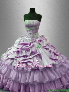 Popular Beaded Quinceanera Gowns with Ruffled Layers
