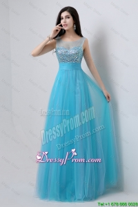 Popular Sweetheart Tulle Prom Dresses with Beading