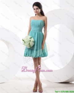 Most Popular Mini Length Aqua Blue Prom Dresses with Strapless