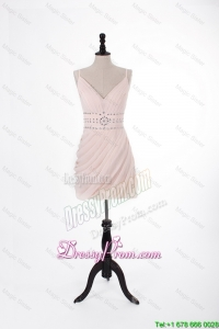 Brand New 2016 Short Light Pink Prom Dresses with Beading