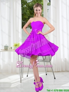 2015 Fall A Line Sweetheart Dama Dresses