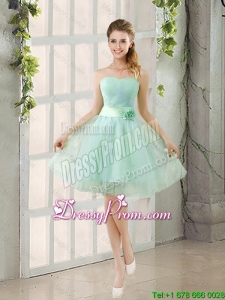 2016 Summer A Line Strapless Ruching Prom Dresses in Tulle