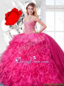 Beautiful Ball Gown Straps Sweet 16 Dresses with Beading