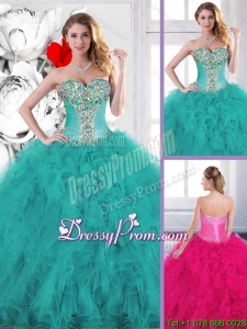 Popular Beading Sweet 16 Dresses with Ruffles for 2016