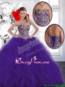 Elegant Beading and Ruffles Quinceanera Dresses with Lace Up