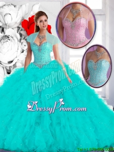Perfect 2016 Ball Gown Sweet 16 Dresses with Ruffles