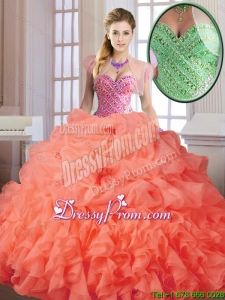 Elegant Spring Sweet 16 Dresses with Beading and Ruffles