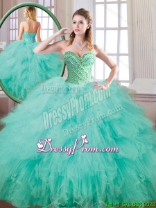New Style Sweetheart Beading and Ruffles Quinceanera Gowns