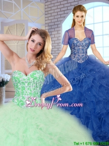 Popular Ball Gown Sweet 16 Dresses with Beading and Ruffles