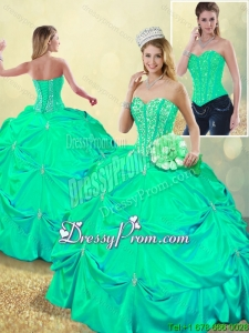 Beautiful Beading and Pick Ups Sweet 16 Dresses with Lace Up