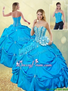 Elegant Sweetheart Quinceanera Dresses with Beading and Pick Ups