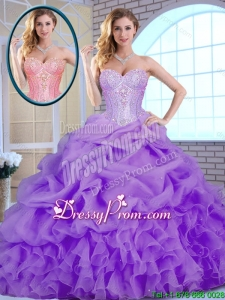 Classical Beading and Ruffles Quinceanera Gowns in Lavender