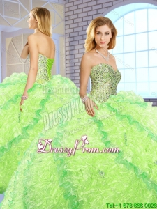 New Arrivals Sweetheart Quinceanera Gowns with Beading and Ruffles