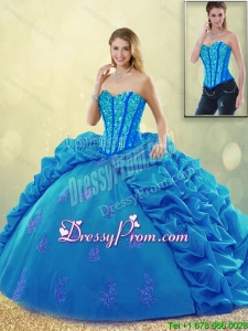 Popular Ball Gown Beading Sweet 16 Dresses with Pick Ups
