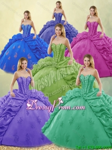 Exquisite Beading and Appliques Quinceanera Dresses for 2016
