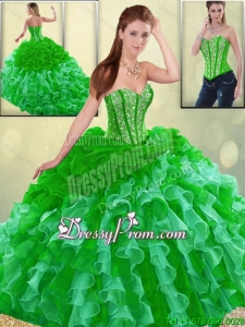 Gorgeous Multi Color Quinceanera Dresses with Brush Train