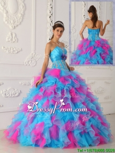 Winter Lovely Multi Color Floor Length Appliques Quinceanera Dresses