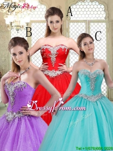 Stylish Sweetheart Brush Train Quinceanera Dresses with Beading