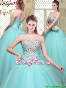 2016 Stylish Sweetheart Beading Quinceanera Gowns for Summer