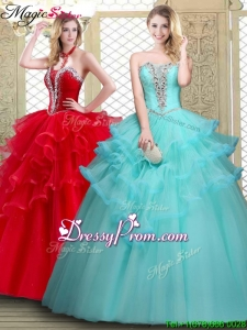 2016 Stylish Sweetheart Quinceanera Dresses with Beading and Ruffles