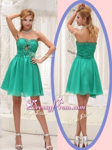 Perfect Sweetheart Beading Short Prom Dress for 2016