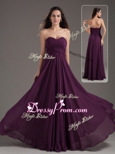 2016 Cheap Empire Sweetheart Ruching Prom Dress in Purple