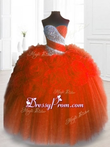 2016 Sweetheart Hand Made Flowers and Beading In Stock Quinceanera Gowns