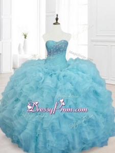 Ball Gown In Stock Sweet 15 Dresses with Beading and Ruffles