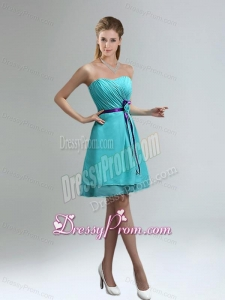 Classical Blue And Purple Sweetheart Dama Dresses with Ruches