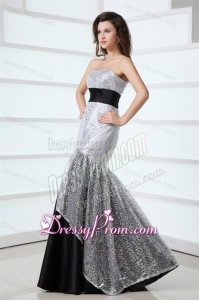 2014 Sexy Mermaid Sweetheart Sequins Floor-length Grey Prom Dress