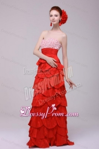 Wonderful Column Sweetheart Red Floor-length Prom Dresses with