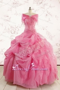 Ball Gown Discount Quinceanera Dresses with Beading