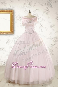Light Pink Beading Pretty Quinceanera Dresses for 2015