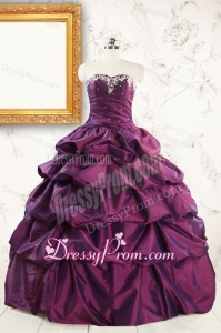 2015 Ball Gown Sweet Sixteen Dresses with Appliques