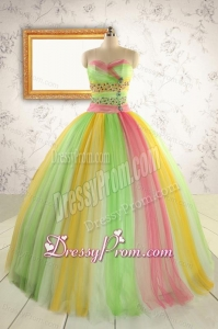 Elegant Sweet 16 Dresses in Multi Color for 2015