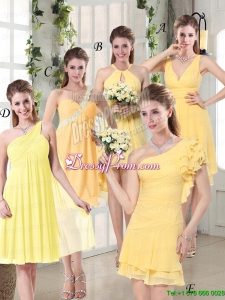 Discount Fashionable Decorated Bridesmaid Dresses in Chiffon
