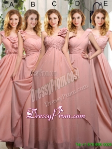 Empire Ruching 2015 Sturning Bridesmaid Dresses in Peach