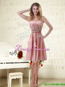 Sassy Sweetheart Ruched Prom Dresses in Chiffon with Waistband