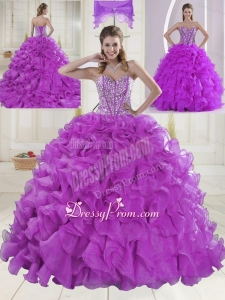 On Sale Sweetheart Beading Quinceanera Dresses with Brush Train