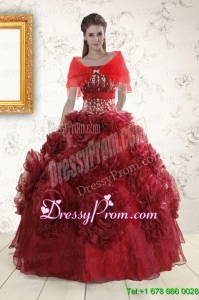 Perfect Quinceanera Dresses with Hand Made Flowers for 2015