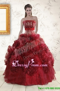 Stylish Quinceanera Dresses with Hand Made Flowers for 2015